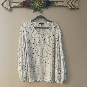 Fred David - polka dot bell sleeve blouse